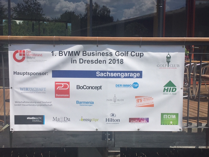 Unsere Sponsoren 1.BVMW Business Golf Cup in Dresden 14.07.2018 Fotograf Volker Helbig